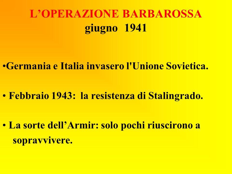 L'OPERAZIONE BARBAROSSA giugno 1941