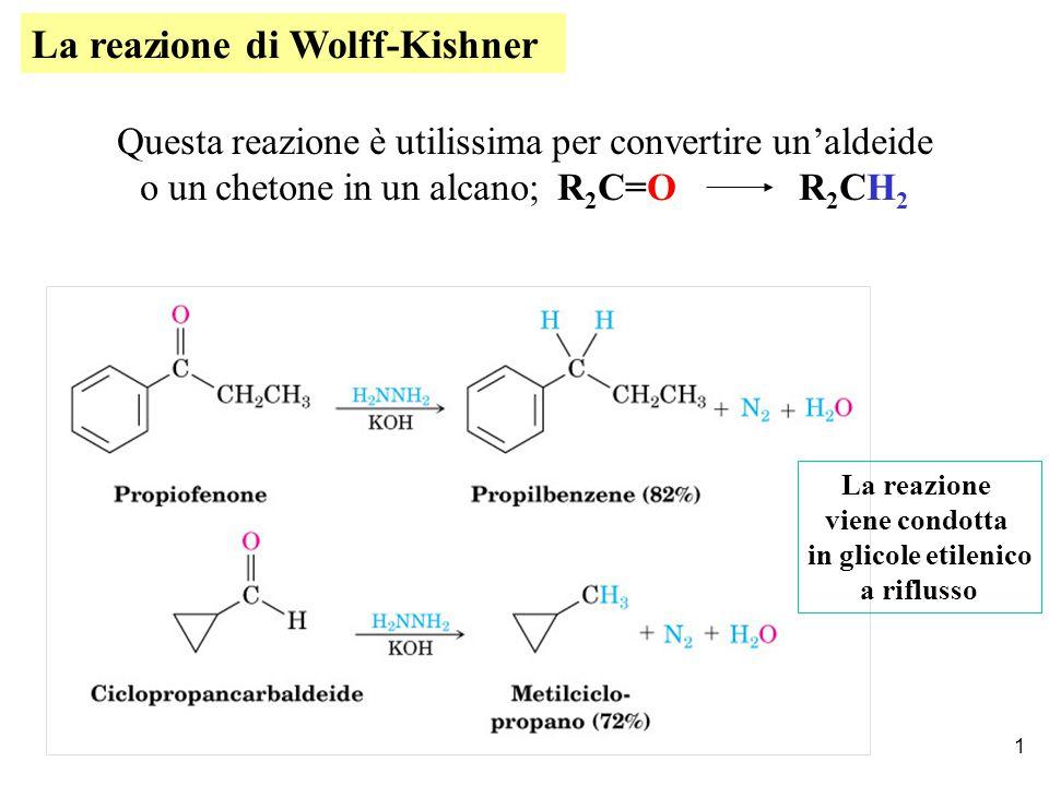 La reazione di Wolff-Kishner