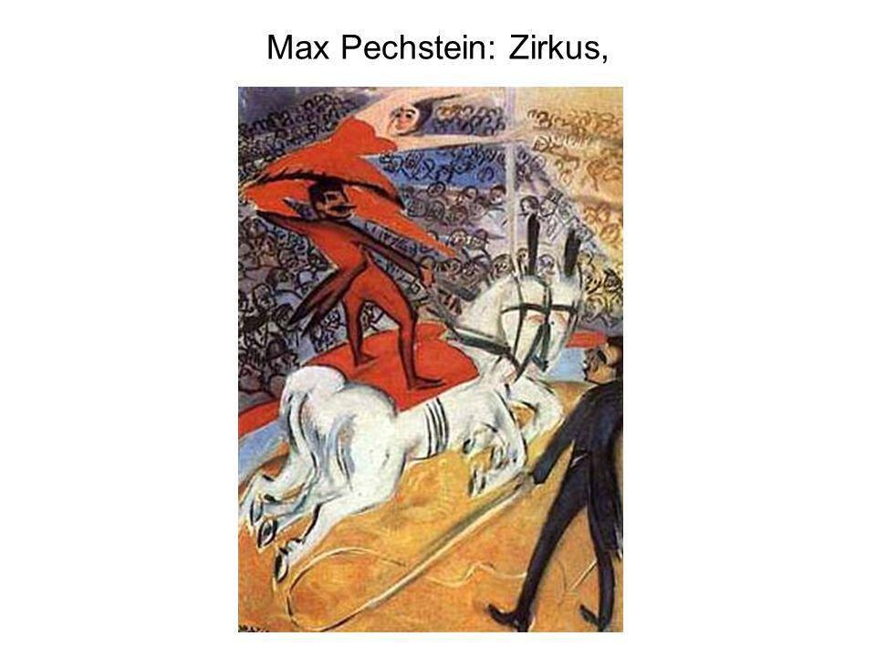 Max Pechstein: Zirkus,