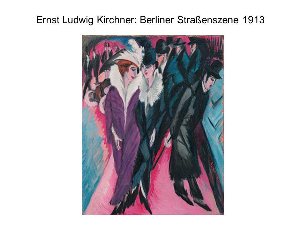 Ernst Ludwig Kirchner: Berliner Straßenszene 1913