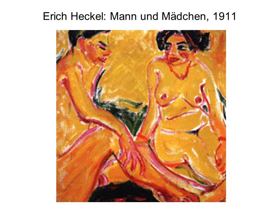 Erich Heckel: Mann und Mädchen, 1911