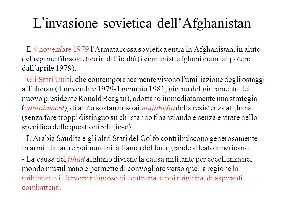 L'invasione sovietica dell'Afghanistan