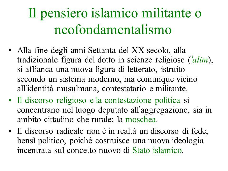 Il pensiero islamico militante o neofondamentalismo