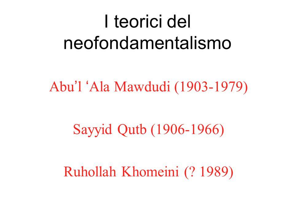 I teorici del neofondamentalismo