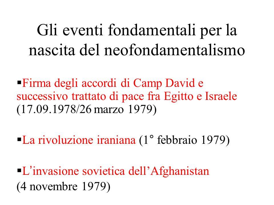 Gli eventi fondamentali per la nascita del neofondamentalismo