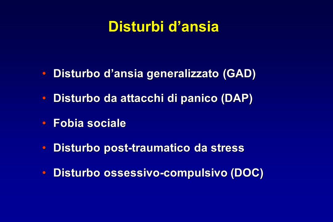 Disturbi d'ansia Disturbo d'ansia generalizzato (GAD)