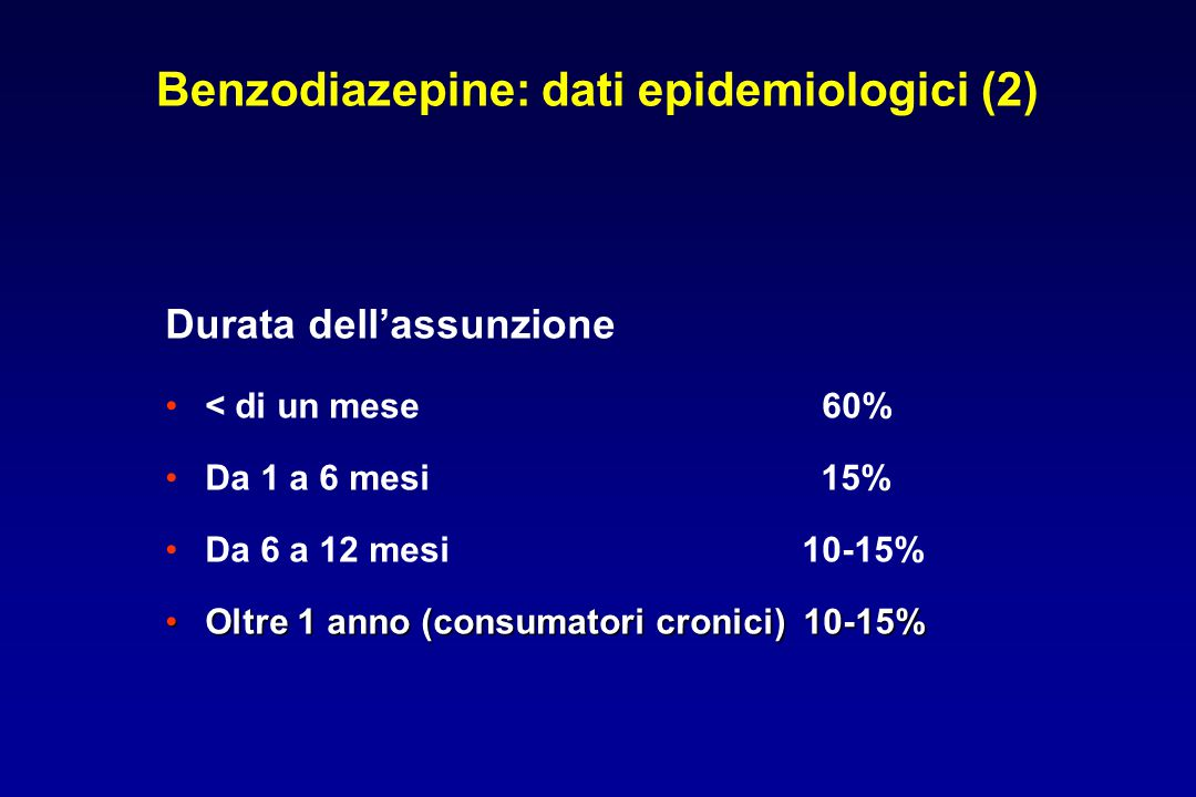 Benzodiazepine: dati epidemiologici (2)