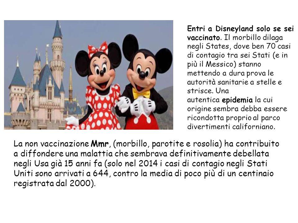 Entri a Disneyland solo se sei vaccinato