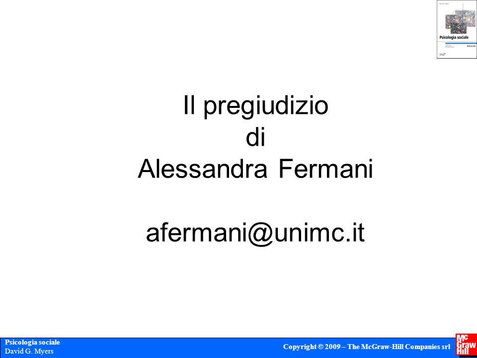 Il pregiudizio di Alessandra Fermani afermani@unimc.it