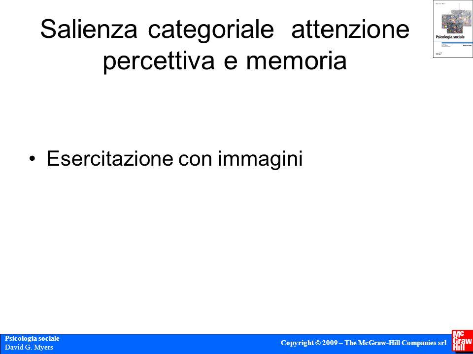 Salienza categoriale attenzione percettiva e memoria