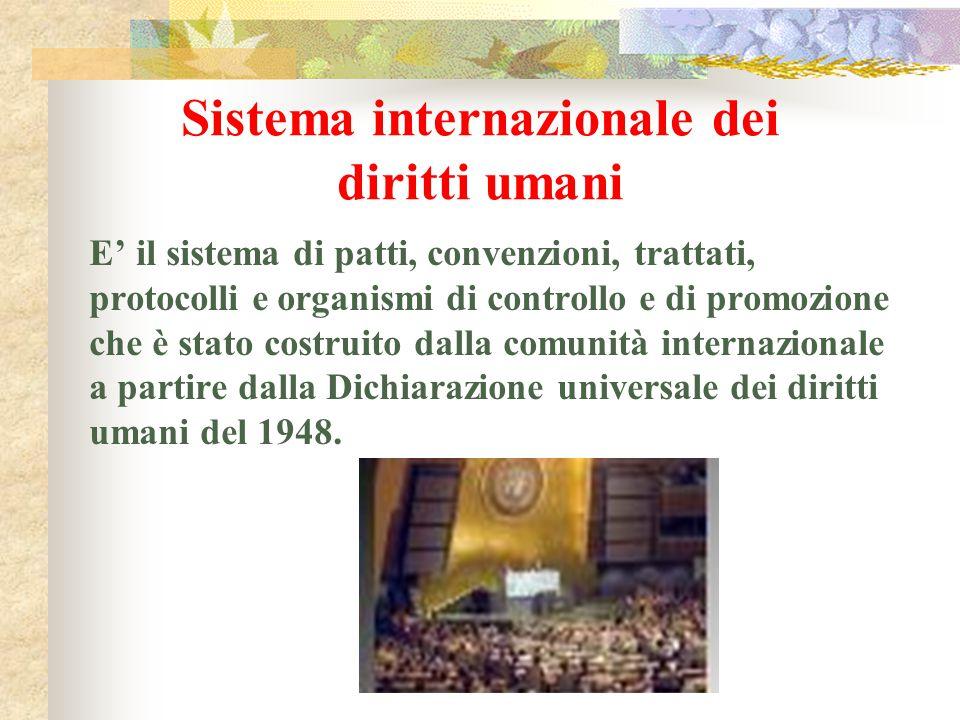 Sistema internazionale dei diritti umani