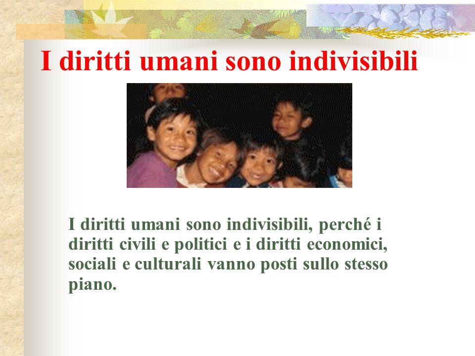 I diritti umani sono indivisibili