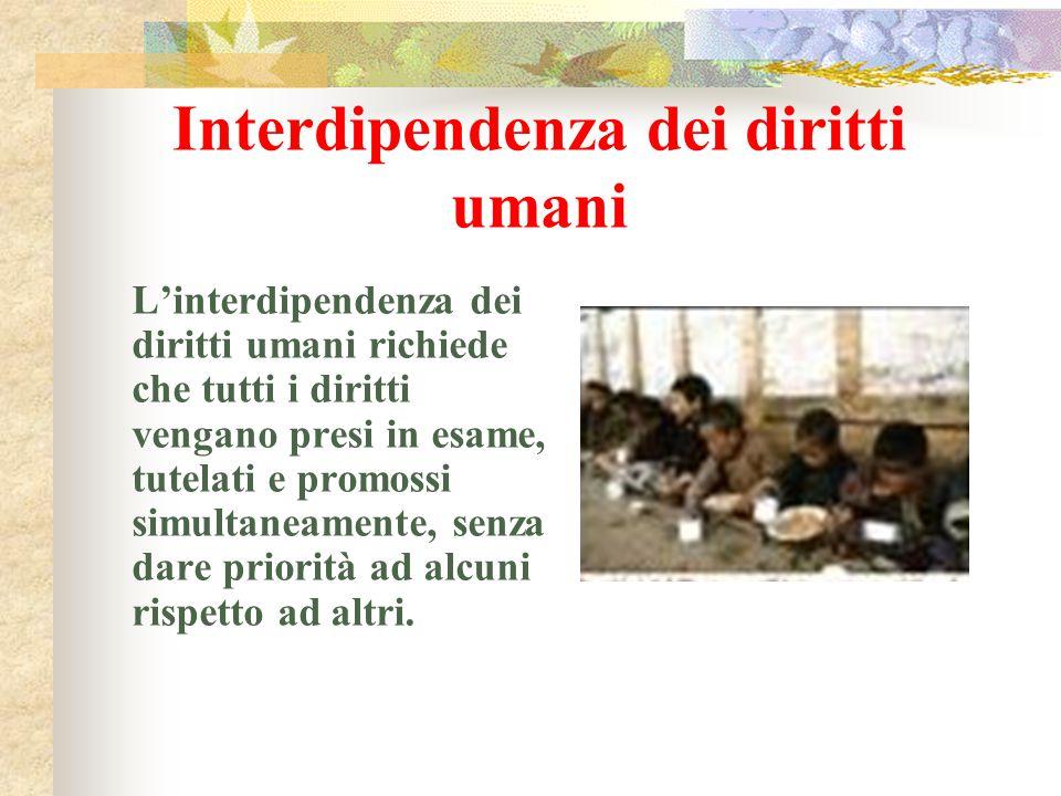 Interdipendenza dei diritti umani
