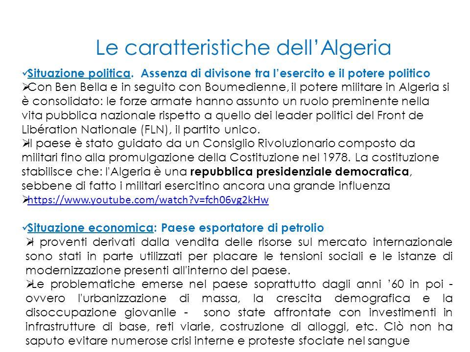 Le caratteristiche dell'Algeria