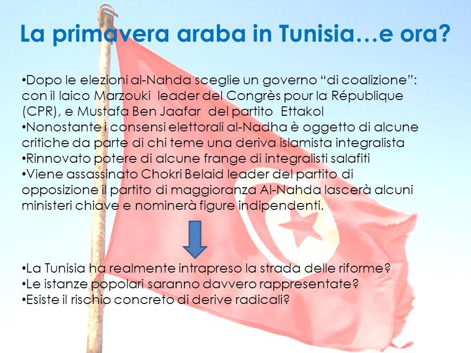 La primavera araba in Tunisia…e ora