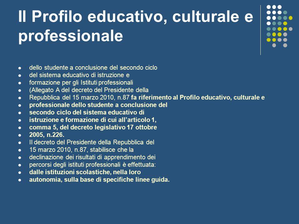 Il Profilo educativo, culturale e professionale