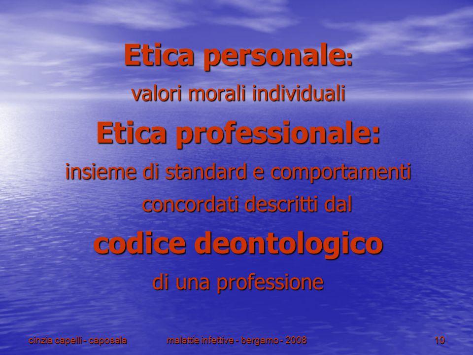 Etica professionale: codice deontologico