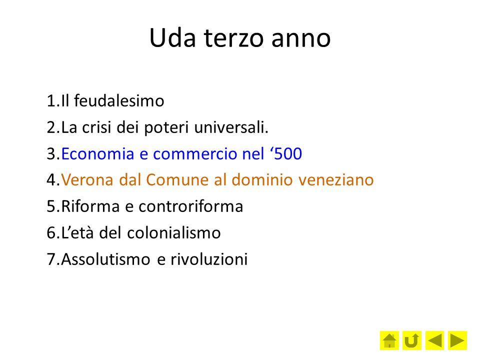 Uda terzo anno Il feudalesimo La crisi dei poteri universali.