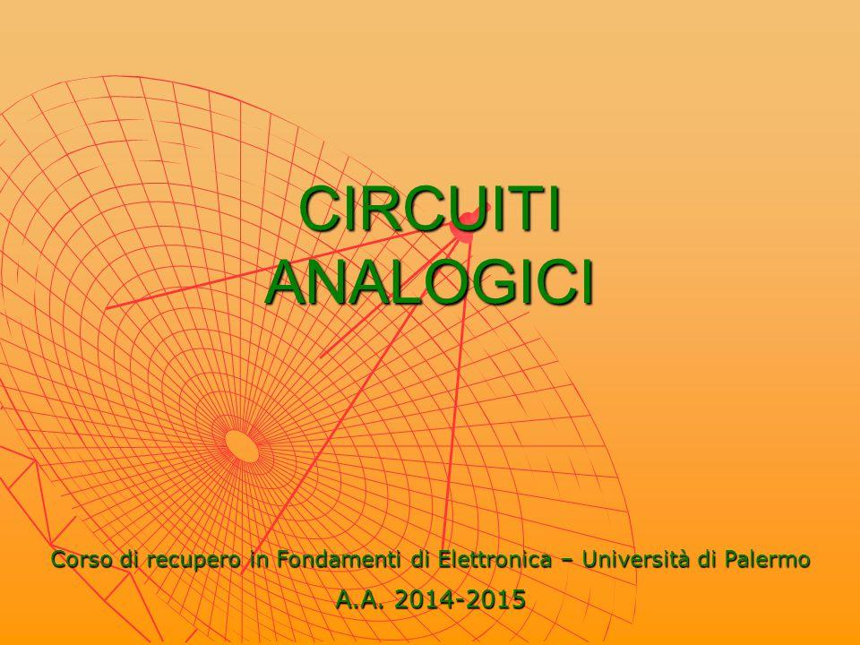 Corso di recupero in Fondamenti di Elettronica – Università di Palermo