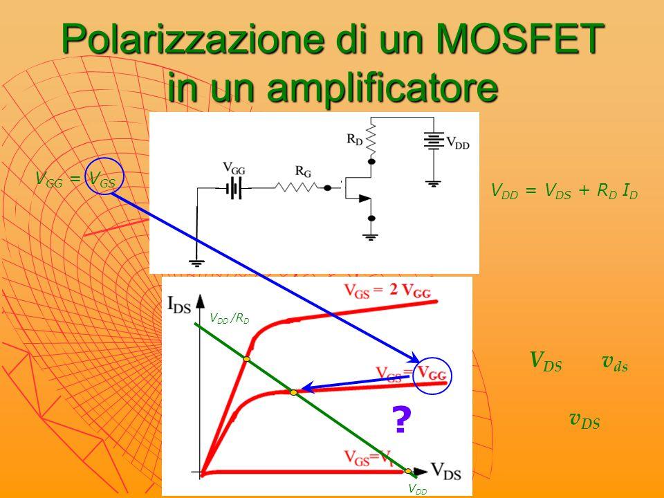 Polarizzazione di un MOSFET in un amplificatore
