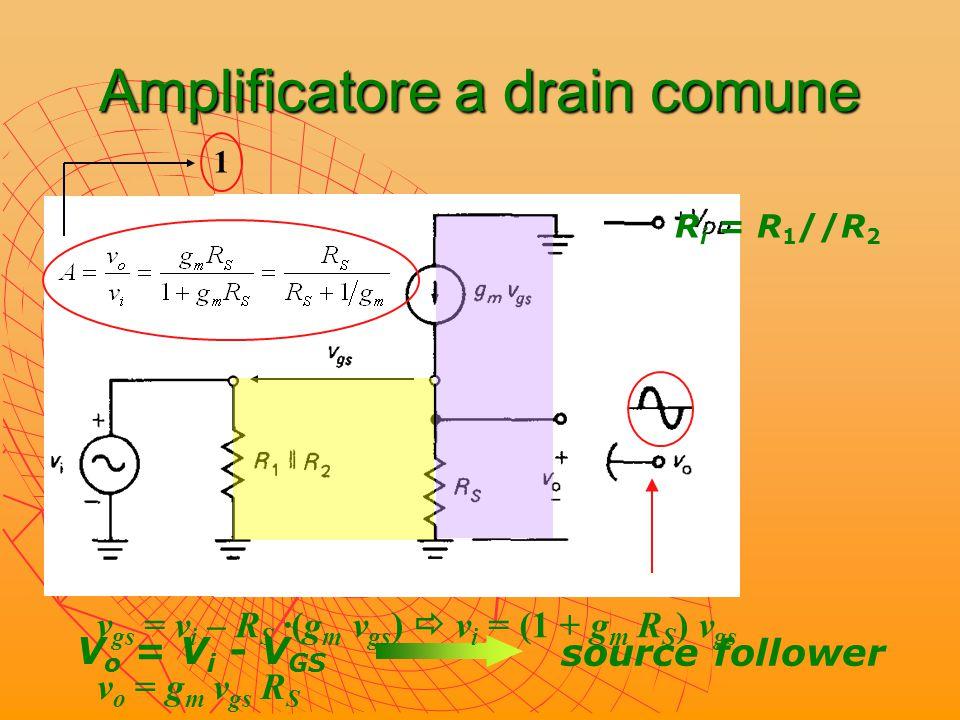 Amplificatore a drain comune