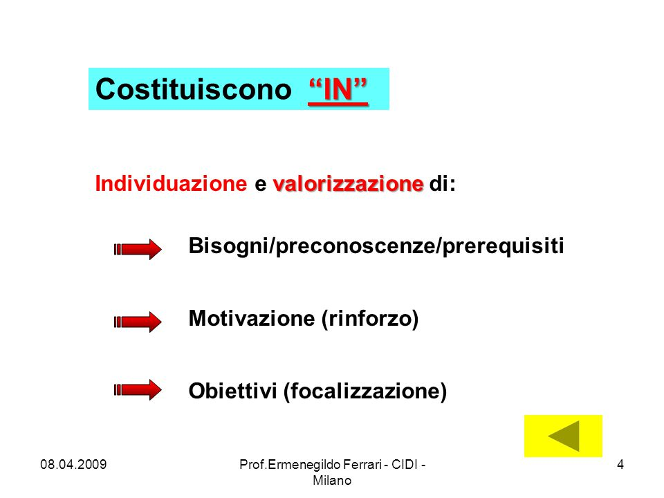 Prof.Ermenegildo Ferrari - CIDI - Milano