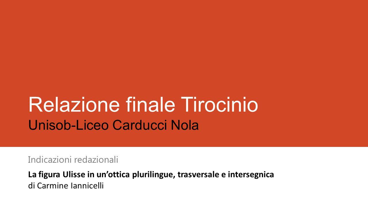 Relazione finale Tirocinio Unisob-Liceo Carducci Nola