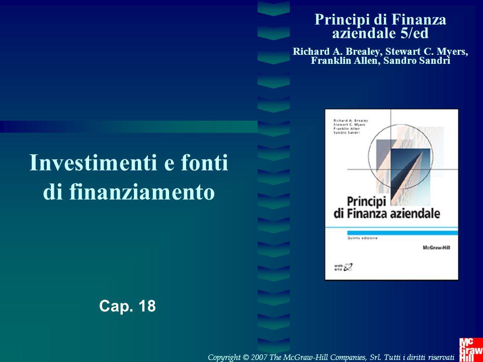 Investimenti e fonti di finanziamento