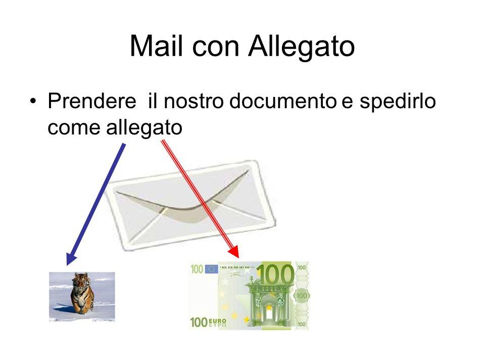 Mail con Allegato Prendere il nostro documento e spedirlo come allegato