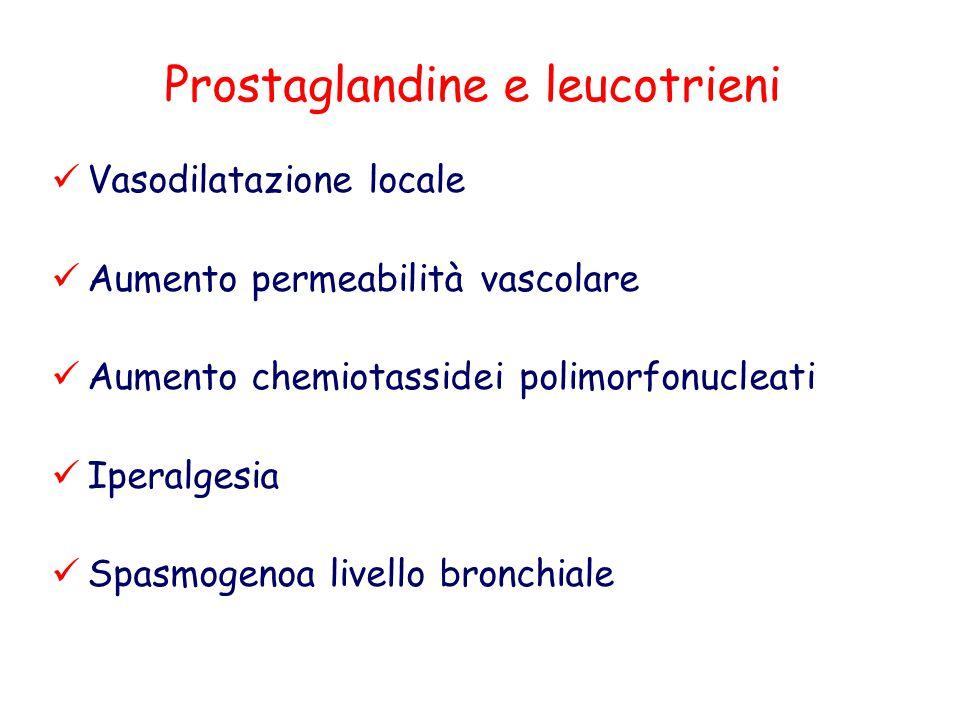 Prostaglandine e leucotrieni
