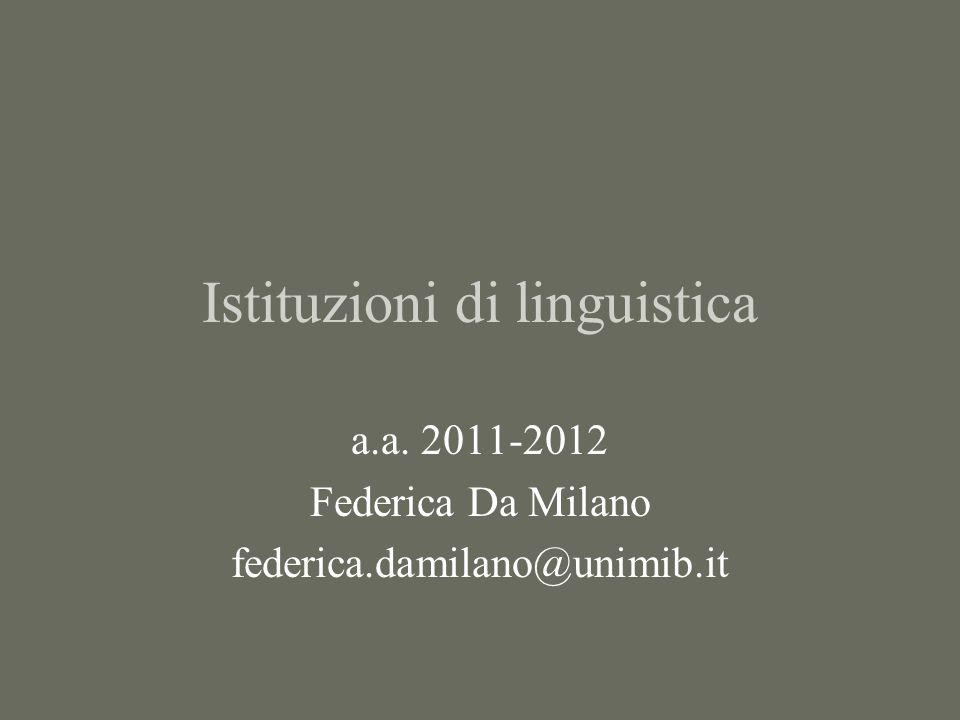 Istituzioni di linguistica