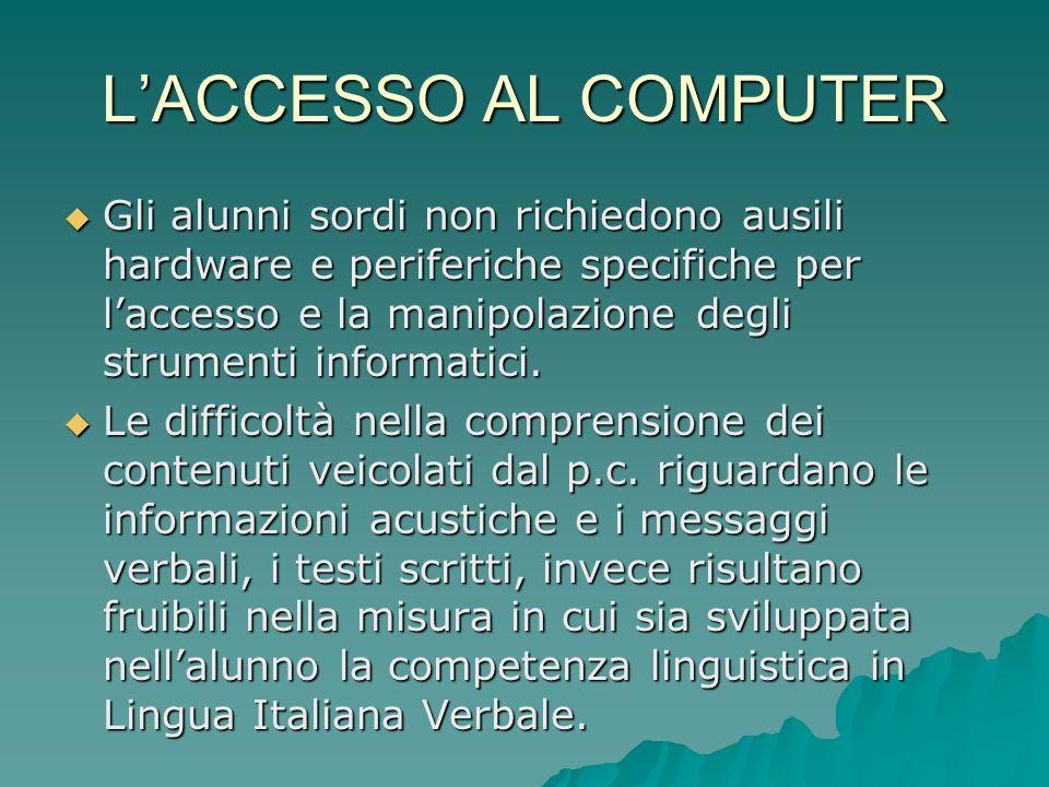 L'ACCESSO AL COMPUTER
