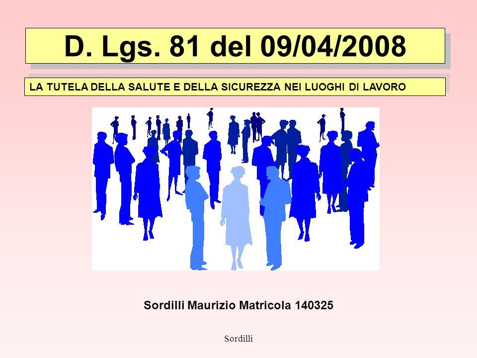 Sordilli Maurizio Matricola 140325
