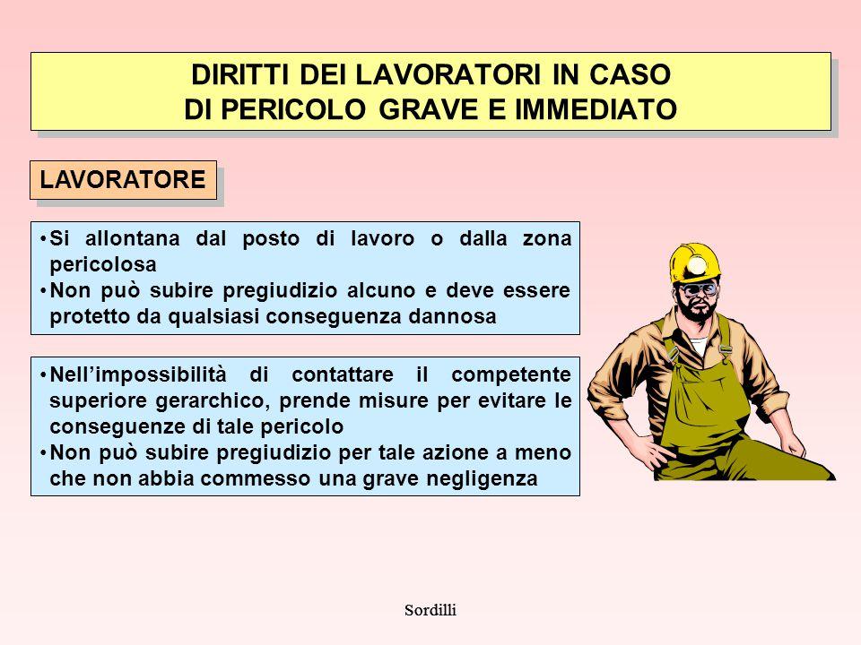 DIRITTI DEI LAVORATORI IN CASO DI PERICOLO GRAVE E IMMEDIATO