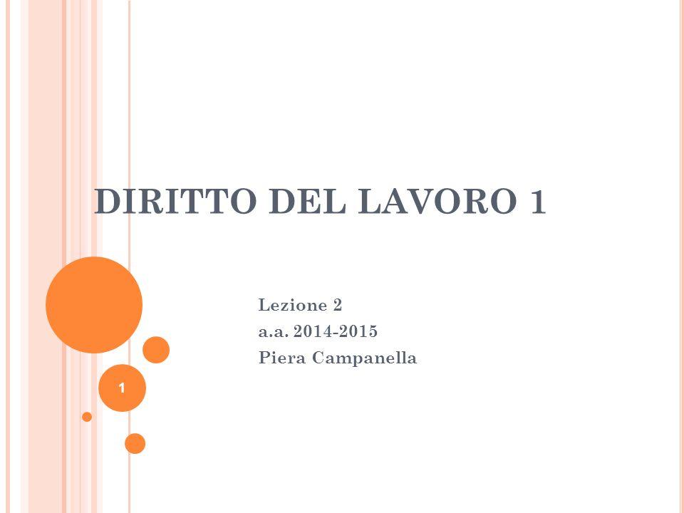 Lezione 2 a.a. 2014-2015 Piera Campanella