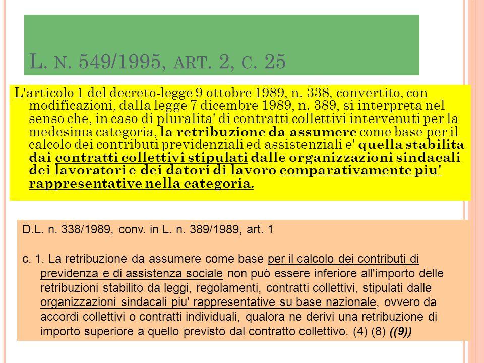 L. n. 549/1995, art. 2, c. 25