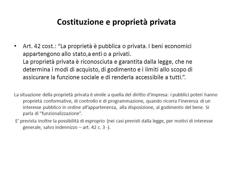 Costituzione e proprietà privata
