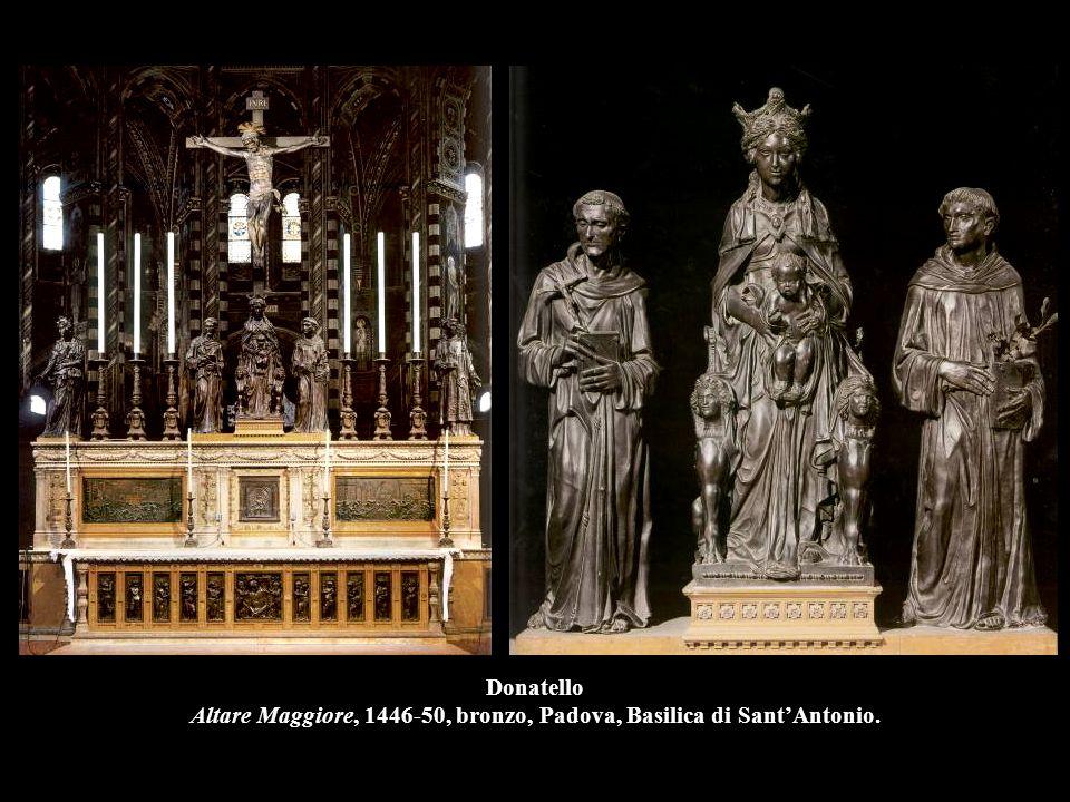 Donatello Altare Maggiore, 1446-50, bronzo, Padova, Basilica di Sant'Antonio.