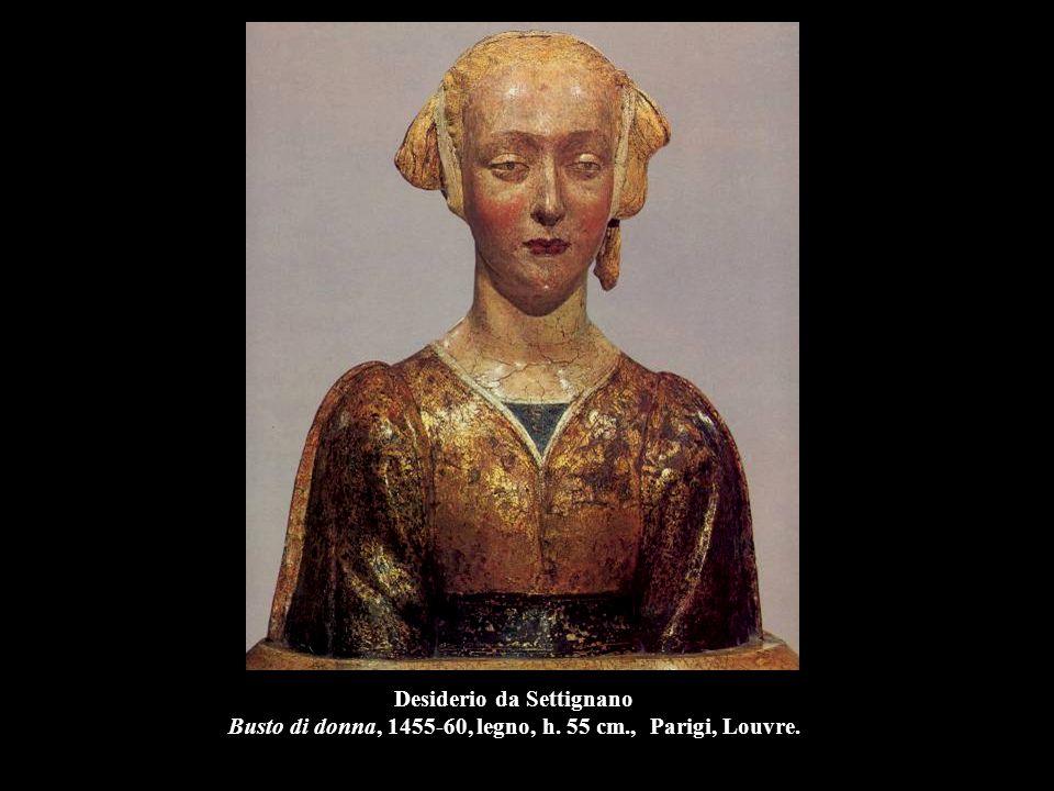 Desiderio da Settignano Busto di donna, 1455-60, legno, h. 55 cm