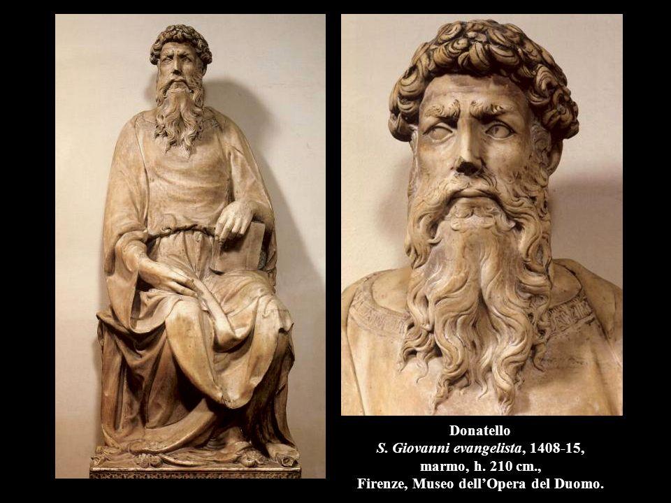 Donatello S. Giovanni evangelista, 1408-15, marmo, h. 210 cm