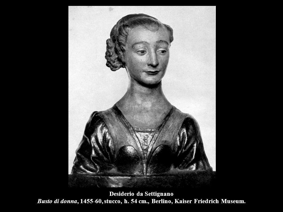 Desiderio da Settignano Busto di donna, 1455-60, stucco, h. 54 cm