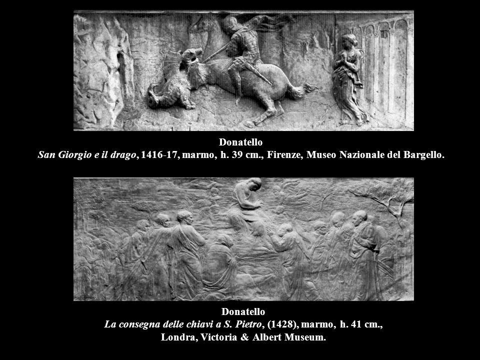 Donatello San Giorgio e il drago, 1416-17, marmo, h. 39 cm
