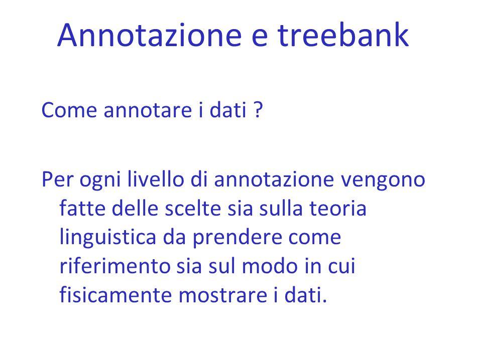 Annotazione e treebank