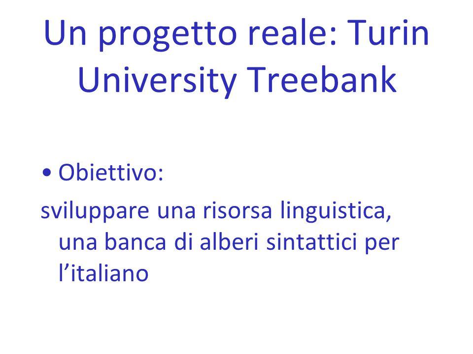 Un progetto reale: Turin University Treebank