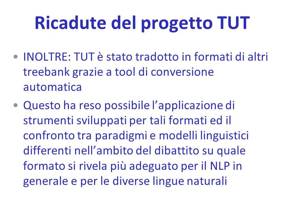 Ricadute del progetto TUT