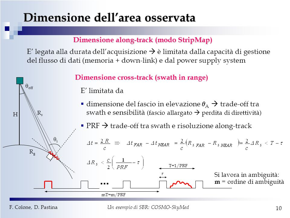 Dimensione dell'area osservata