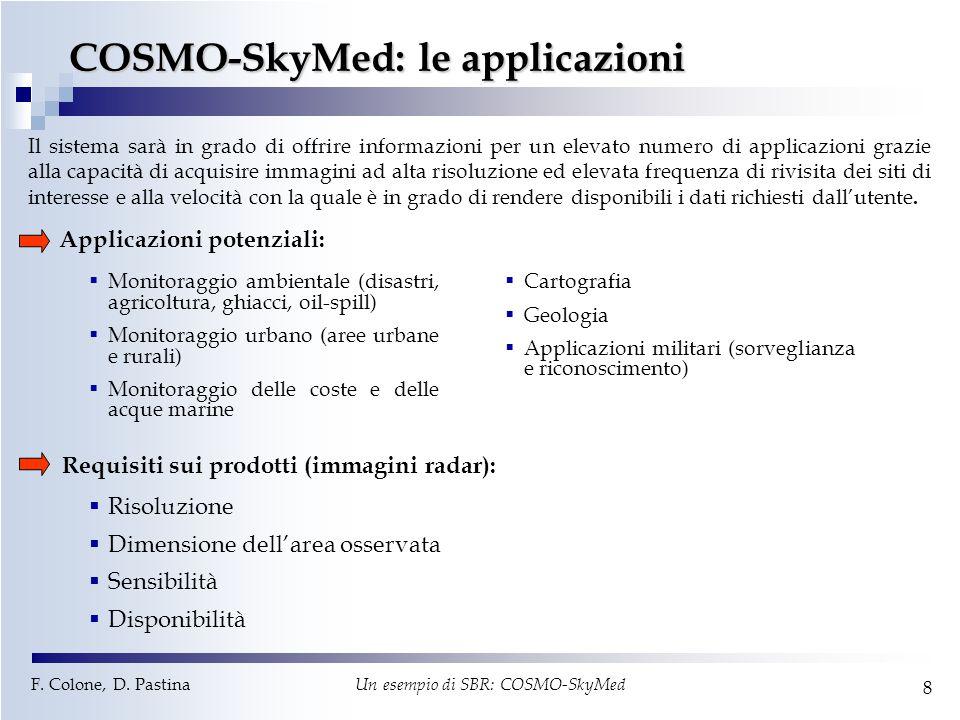 COSMO-SkyMed: le applicazioni