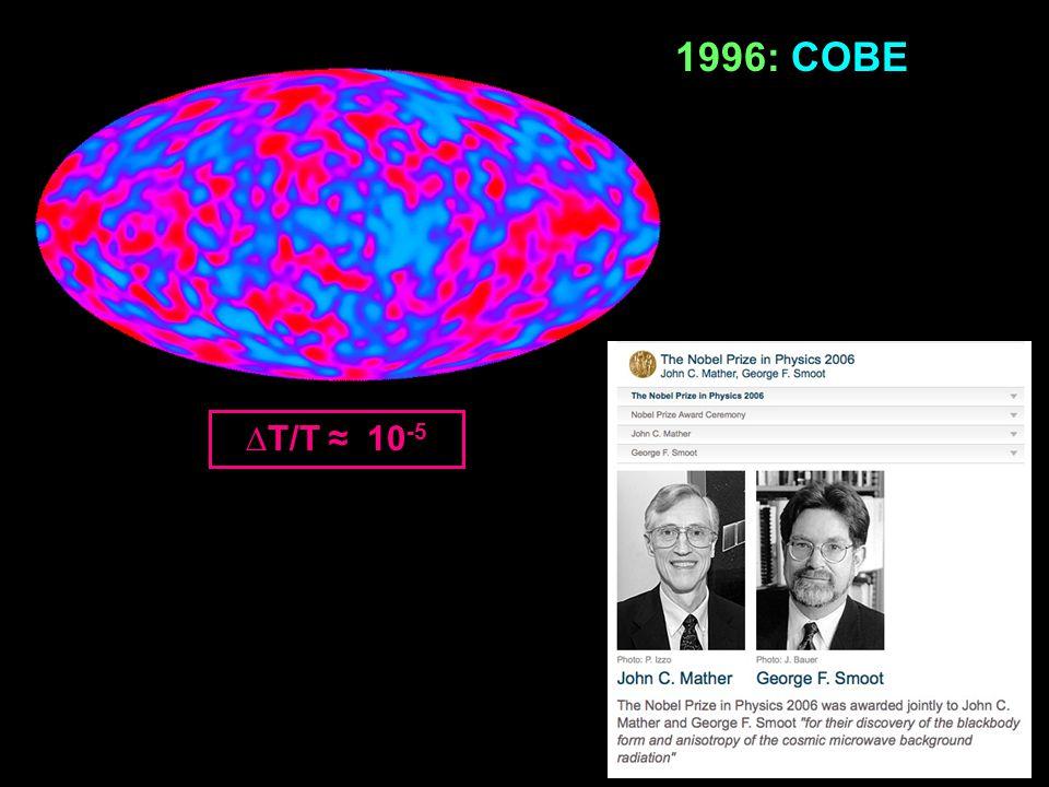 1996: COBE ∆T/T ≈ 10-5