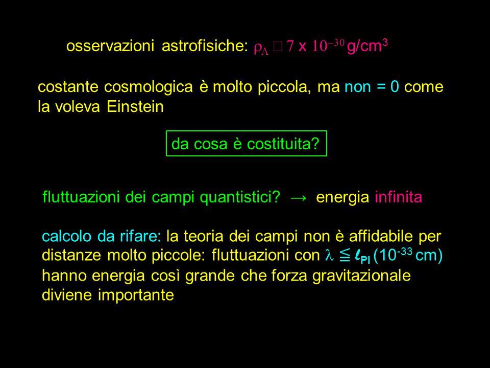 osservazioni astrofisiche: rL ∼ 7 x 10-30 g/cm3