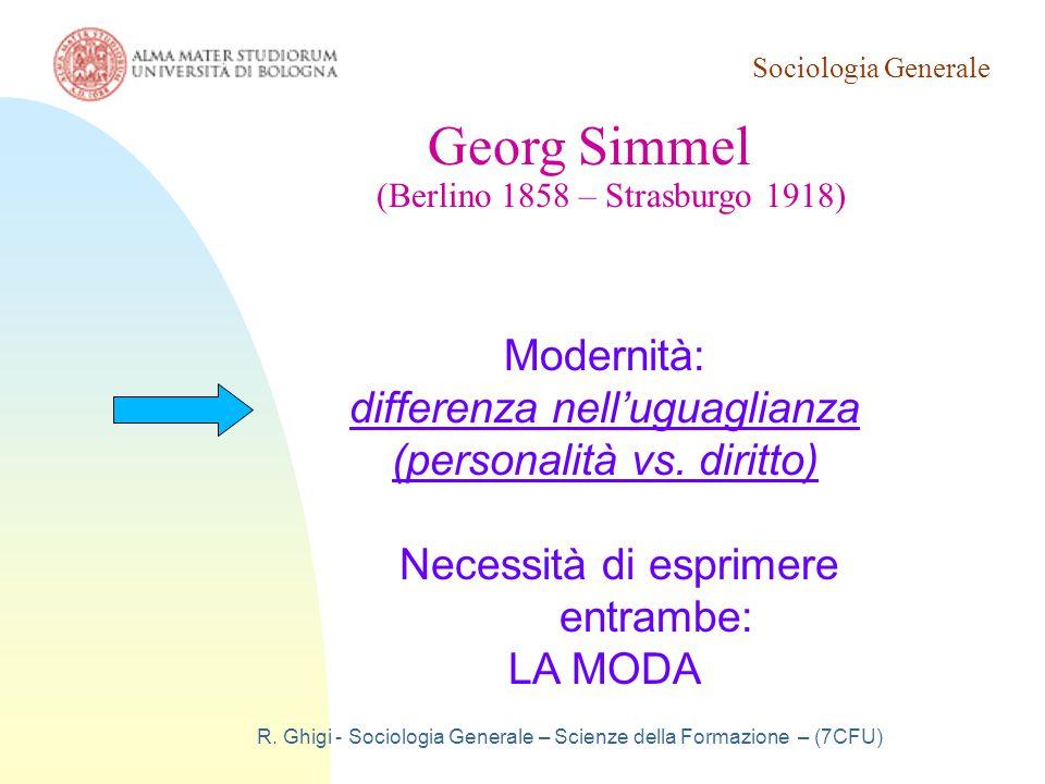 Georg Simmel Modernità:
